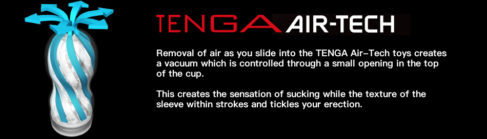 How the TENGA Air-Tech masturbator works