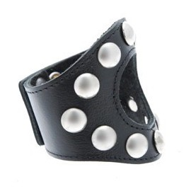 Leather Studded Cockring