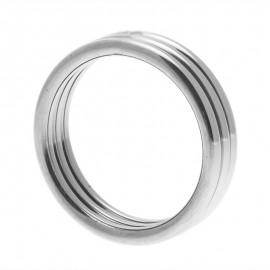 Echo Stainless Steel Triple Cock Ring Small to Medium