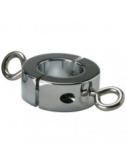 Kink Industries Ball Stretcher Cockring with Hooks 16oz
