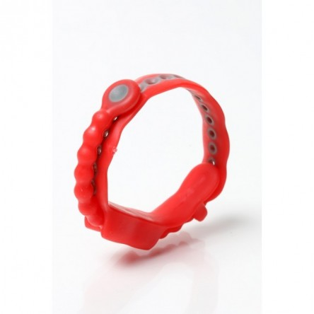Red Adjustable cock ring by Perfect Fit