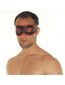 Rimba Red and Black Leather Mask
