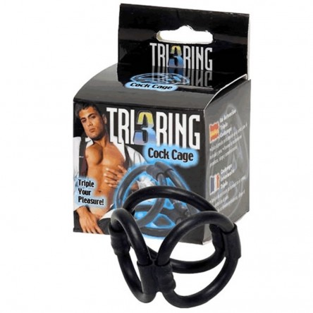 Tri 3 Ring Cock Cage