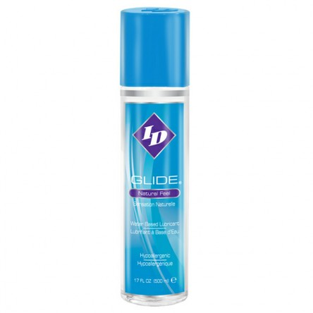 ID Glide is a water based lubricant with a high-quality, long-lasting formula, available in a 17 ounce bottle