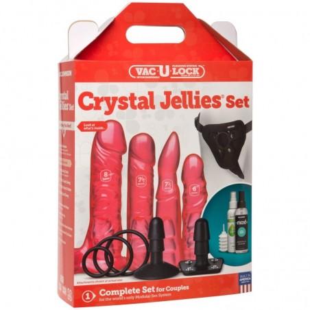 Vac-U-Lock Crystal Jellies Harness Set
