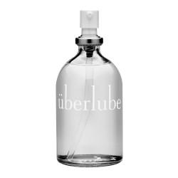 Le lubrifiant luxueux d'Uberlube est un produit de silicone de qualité fourni dans une bouteille de verre attrayante avec un pla