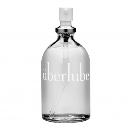 Uberlube Luxury Lubricant is a quality silicone product provided in an attractive glass bottle with clean and easy pump action d