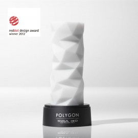 The Tenga 3D Polygon Masturbator comes with an attractive stand for display or storage