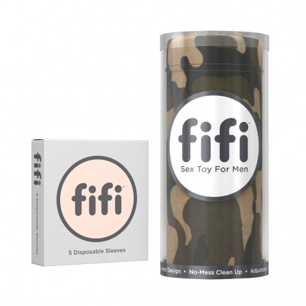 The Camo design Fifi comes with 5 disposable sleeves