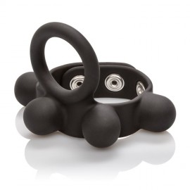 Medium Weighted Penis Ring and Ball Stretcher is adjustable for a good fit