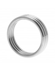 Echo Stainless Steel Triple Cock Ring Medium to Large