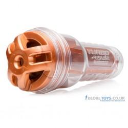 Le masturbateur Fleshlight Turbo Ignition Copper est livré avec une manche et un étui transparent