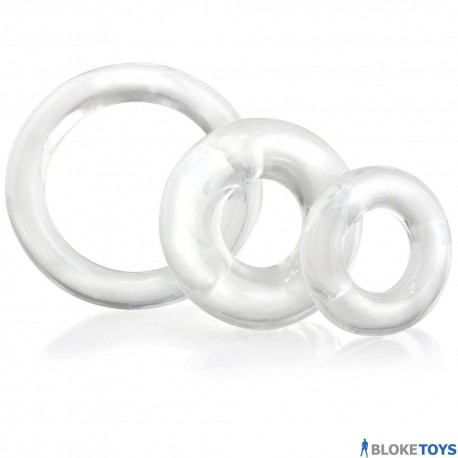 Screaming O Ring O x 3 Clear Cockrings