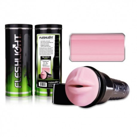 Fleshlight with Mouth Opening