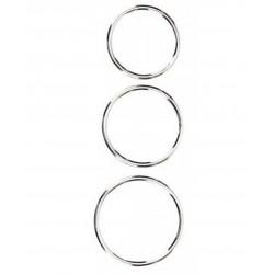 Triple Metal Cock Ring Set