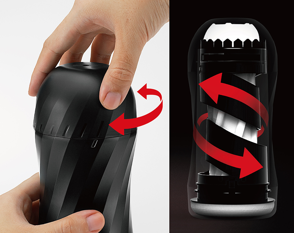 Twisting the top of the new Air-Tech strokers changes the feel inside